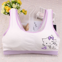 First Bra Young Girl Teenage Underwear Puberty Kids Sports Bras Cotton Training Bra Girl Undergarments Kids Lingerie 5pcs/lot