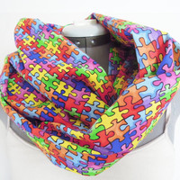 Infinity Scarf // Autism Awareness