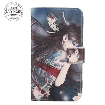 AIYINGE Mobile Phone Shell Cartoon Design PU Leather Cover Case For Doogee HomTom HT7 pro 5.5