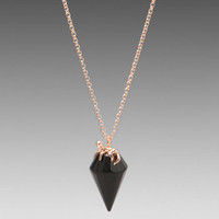 Wildfox Couture Crystal Necklace in Rosegold/Black from REVOLVEclothing.com