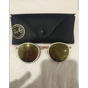 100% AUTHENTIC FOLDING ROUND RAYBAN SUNGLASSES RB3517