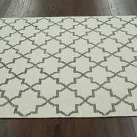 One Kings Lane - The Complete Bedroom - Abbey Flat-Weave Rug, Ivory