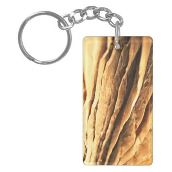 abstract textured paper design keychain
