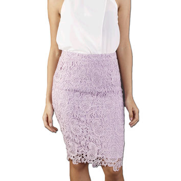 Tia Lace Midi Skirt