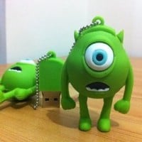 8GB Mini Mike Wazowski USB Flash Drive from MONSTER INC Funny Memory Stick (8G, green)