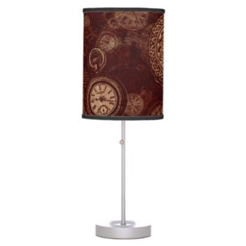 Steampunk lamp by LeahG watches cogs gears vintage