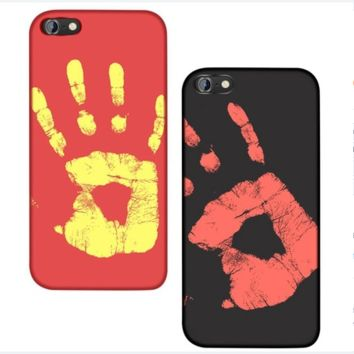 Thermal Sensor Cell Phone Case Cover For iPhone Red Black