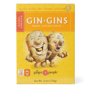 Gin Gins Double Strength Hard Ginger Candy Box 3 Pack (4.5 Oz Ea)