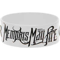 Memphis May Fire Men's Challenger Rubber Bracelet White