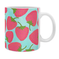 Lisa Argyropoulos Strawberry Sweet In Blue Coffee Mug