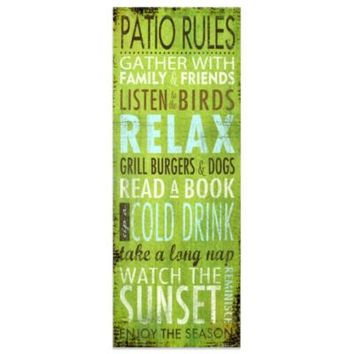 Patio Rules Indoor/Outdoor Wall Art