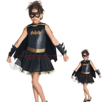 Shanghai Story Kids Children Girls Boys Baby Bat Cosplay Costume Clothing Set Clothes Show Fantasia Halloween Anime gothic dress