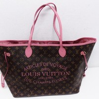 LOUIS VUITTON Neverfull GM Ikat flower M 40877 Roseve Rules free shipping japan