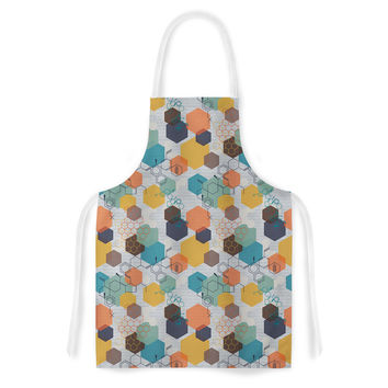 "Maike Thoma ""Biomolecular"" Science Multicolor Artistic Apron"