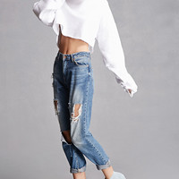 Frayed Denim Ankle Boots