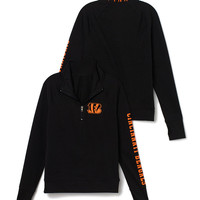 Cincinnati Bengals Athletic Half-Zip Pullover