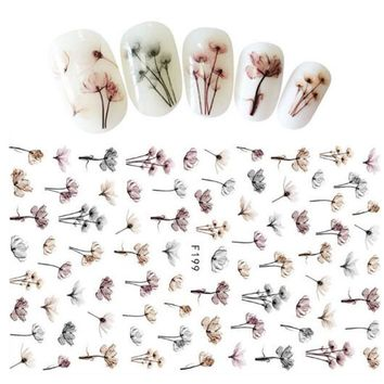 1 Sheets Dandelion Nail Art Stickers On the Nails of Dandelions Stickers for Nails Sticker Decorations Manicure ZJT099
