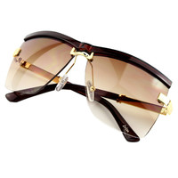 2016 New Fashion Sunglasses Women Brand Designer Outdoor Unisex Semi-Rimless Frame Business Sunglasses Women Men 6 Colors UV400