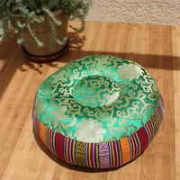 Zafu/Meditation Pillow- Rainbow Green
