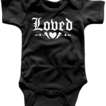 Baby's Loved One Piece - Rockstar Black