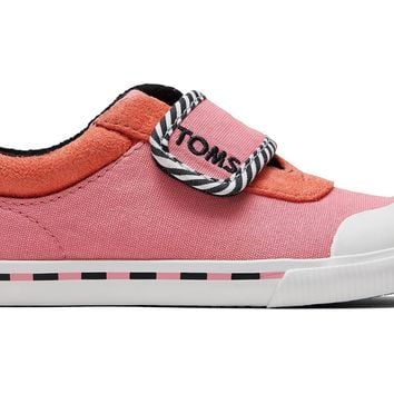 TOMS - Tiny Toms Doheny Strawberry Milkshake Canvas Sneakers