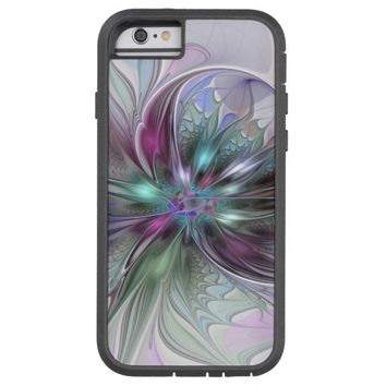 Colorful Fantasy, abstract and modern Fractal Art Tough Xtreme iPhone 6 Case