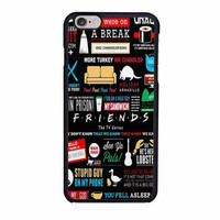friends tv art quote cute parody quirky minimal case for iphone 6 6s