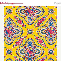 Christmas in July Yellow West Indies Jennifer Paganelli 1 Yard