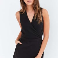 Silence + Noise Surplice Skort Romper - Urban Outfitters