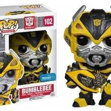 Funko POP! Movies: Transformers: Age of Extinction Exclusive Bumblebee with Weapon
