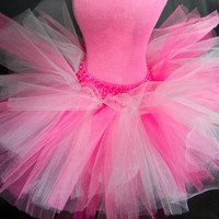 Pink Explosion Tutu-Baby Tutu-Toddler Tutu-Hot Pink Tutu-Ballet Tutu-Tulle Light Pink Tutu-Tutu Skirt-White Tutu-Birthday Tutu-Photo Prop
