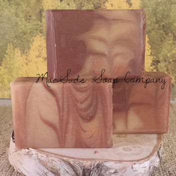 Handmade All Natural Soap,  Cold Process Soap, Harvest Scent, Apple, Cinnamon, Fireball Whiskey, best seller our signature blend