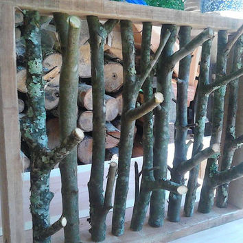 Naturally Rustic Woodsy Branch Art Jewelry Organizer