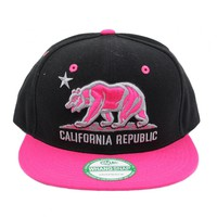 California Republic Snap Back Hat - Pink