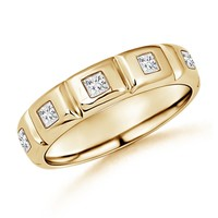 Gypsy Set Diamond Men's Wedding Band | Angara.com