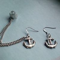 Anchors Oceanside Chain Cuff Earrin.. on Luulla