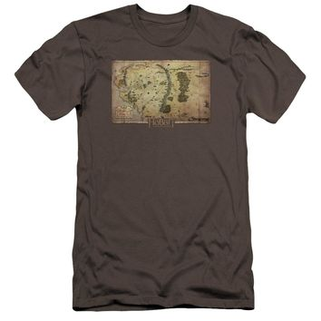 The Hobbit - Middle Earth Map Premium Canvas Adult Slim Fit 30/1 Shirt Officially Licensed T-Shirt