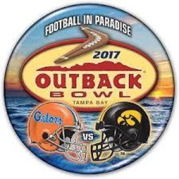ONETOW NCAA Florida Gators v Iowa Hawkeyes 2017 Outback Bowl Button