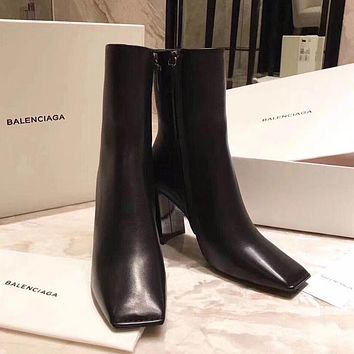 Balenciaga Women Casual Heels Shoes Boots