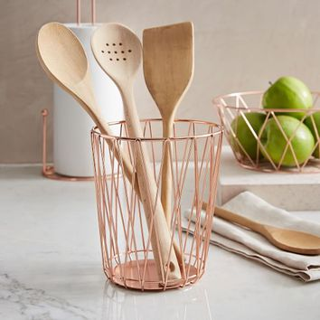 Copper Wire Utensil Holder