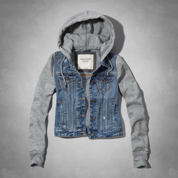 Marisa Denim And Fleece Jacket