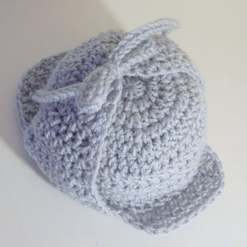Deerstalker Sherlock Holmes Hat PDF Crochet Pattern - Newborn to Adult INSTANT DOWNLOAD