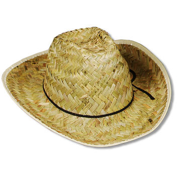 Hi-Crown Western Hat with Shoelace Band - 60 Pack