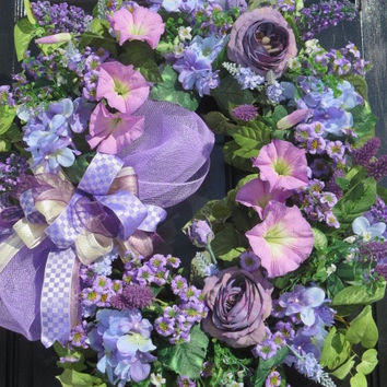 Spring Front Door Wreath, Summer Door Wreath, Spring Summer Wreath, Spring Door Wreath, Summer Door Wreath, Luxury Wreath, Lavender Shades