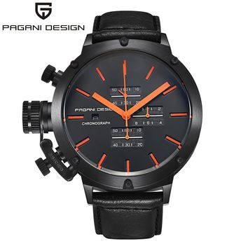 Men Luxury Chronograph Waterproof Military Quartz Watch