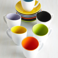 Colorblocking Cup of Joy Tea Set by ModCloth