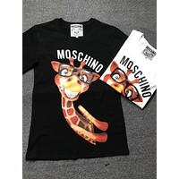 moschino giraffe fashion women t shirt