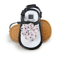 Pu leather floral Baby sandals T style Baby moccasins child Summer girls sandals hard sole Sneakers Infant shoes