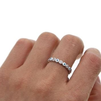 SILVER color 2018 lucky evil eye cz eternity ring band engaement band cute lovely girl women zirconia evil eye finger rings