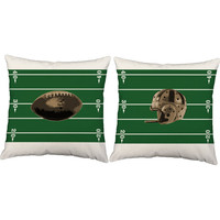 Set of 2 Vintage Football Throw Pillows - Football Pillow Covers With Or Without Cushion Inserts - Sports Pillows,Vintage,Pigskin,touchdown